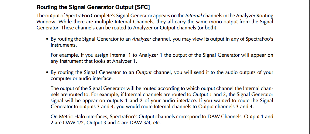 Foo - Routing the signal generator output