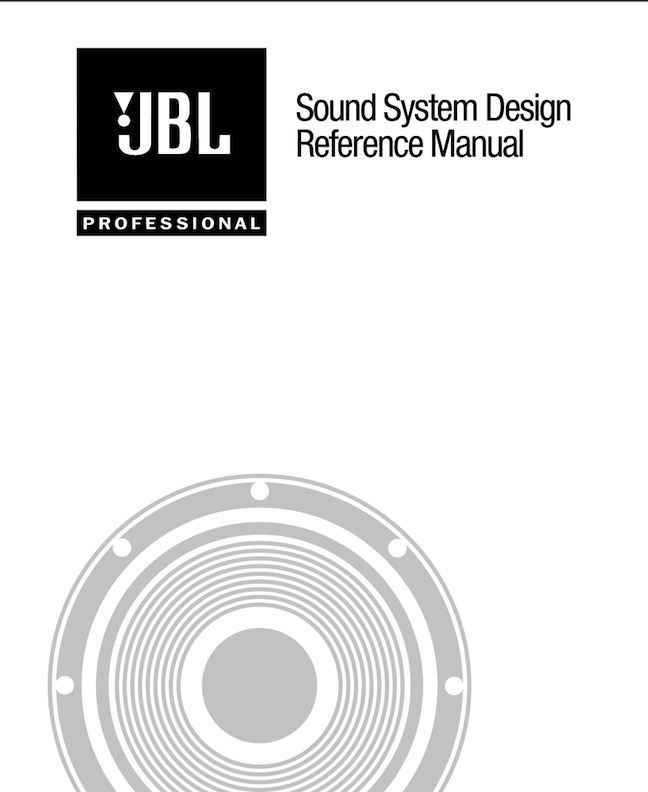 JBL Sound System Design Reference Manual
