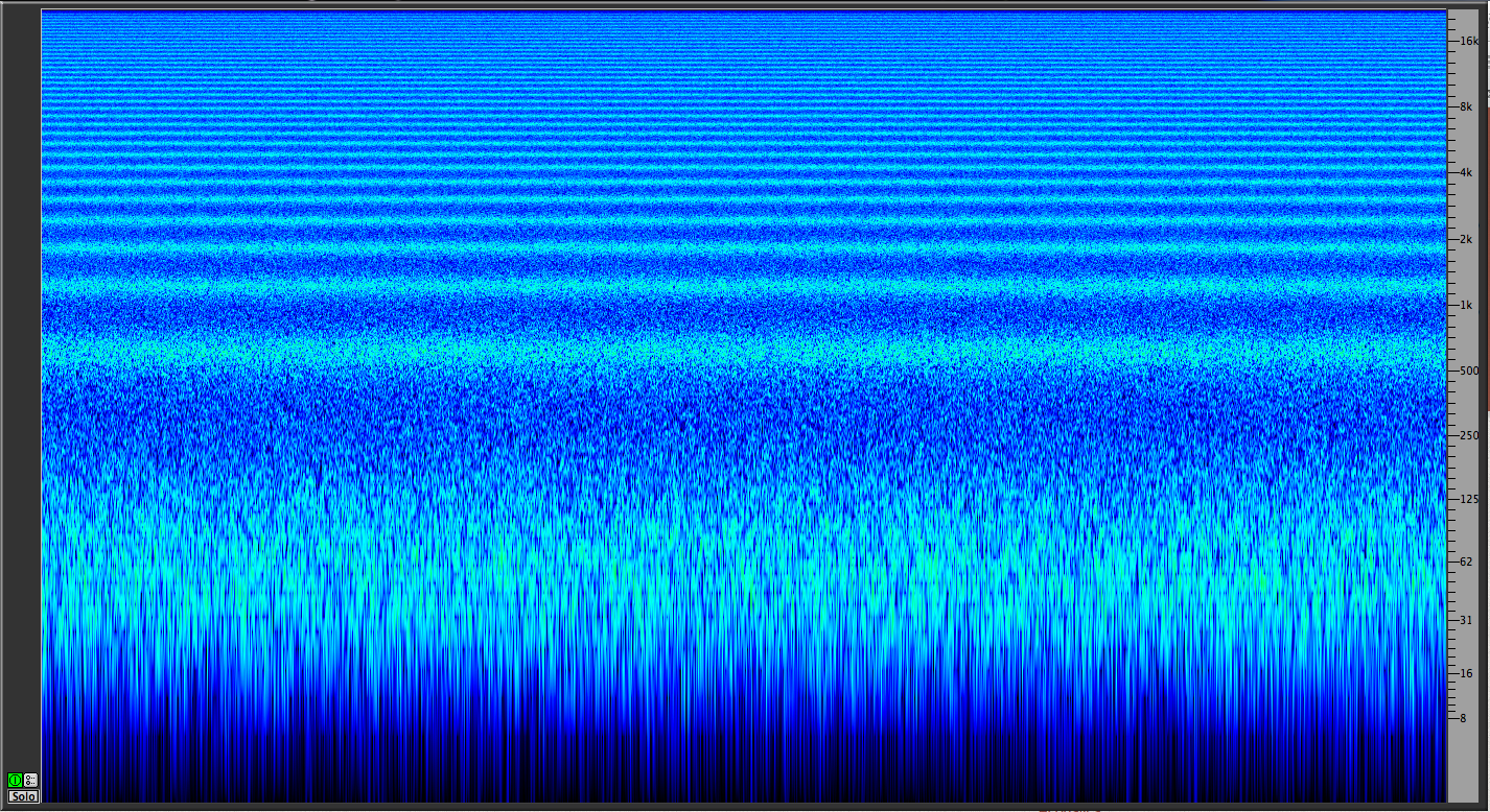 Pink noise comb filtering
