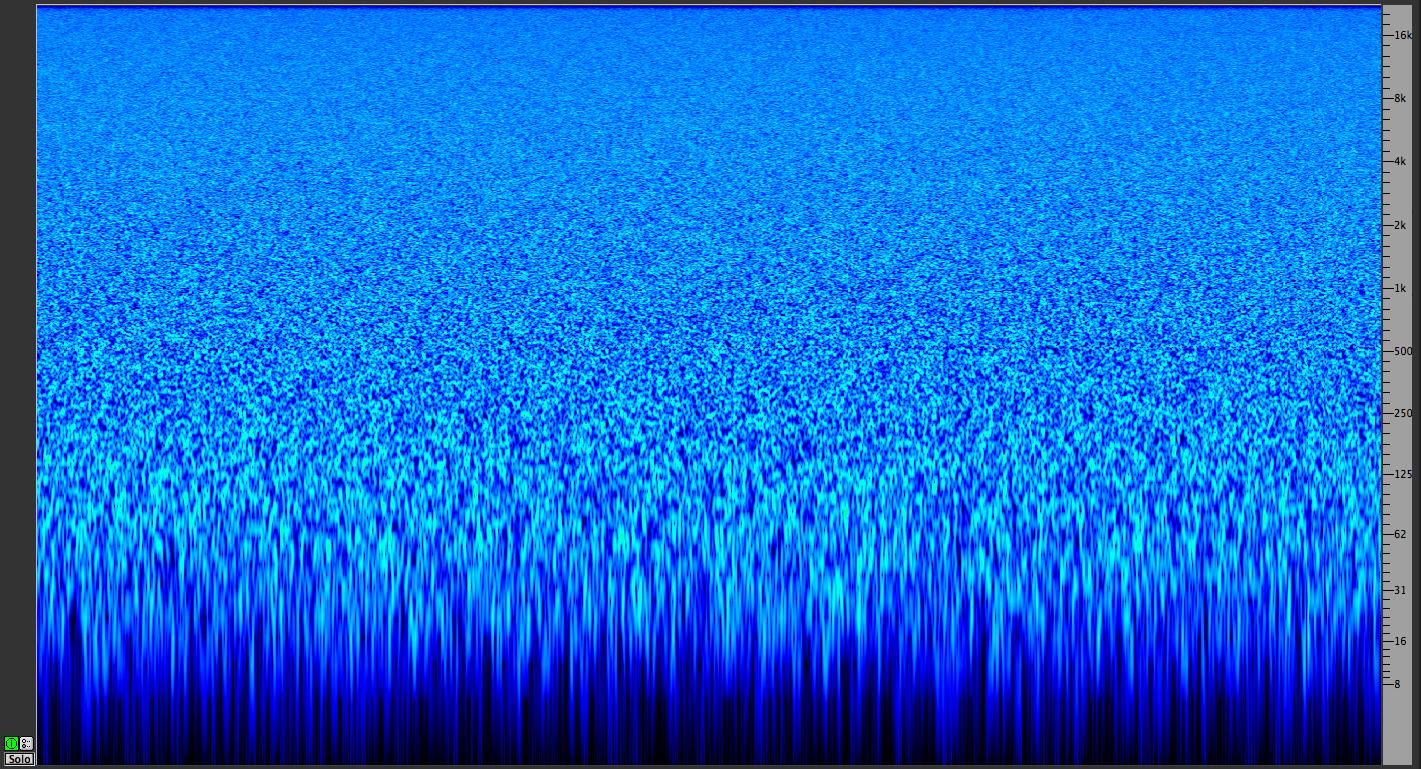pink noise spectragram