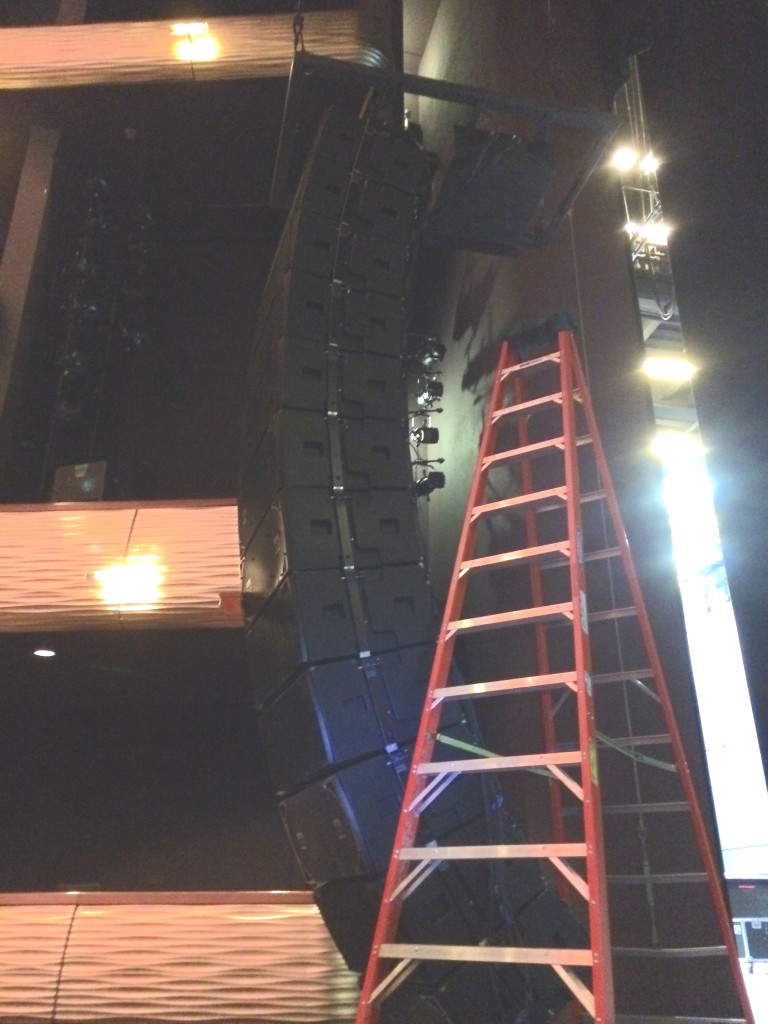 WOH rehung line array