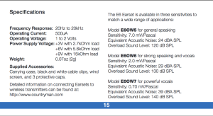 Countryman E6 manual page 15