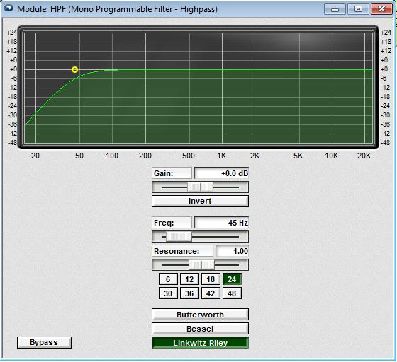 Fulcrum Acoustics  DX1265 HPF