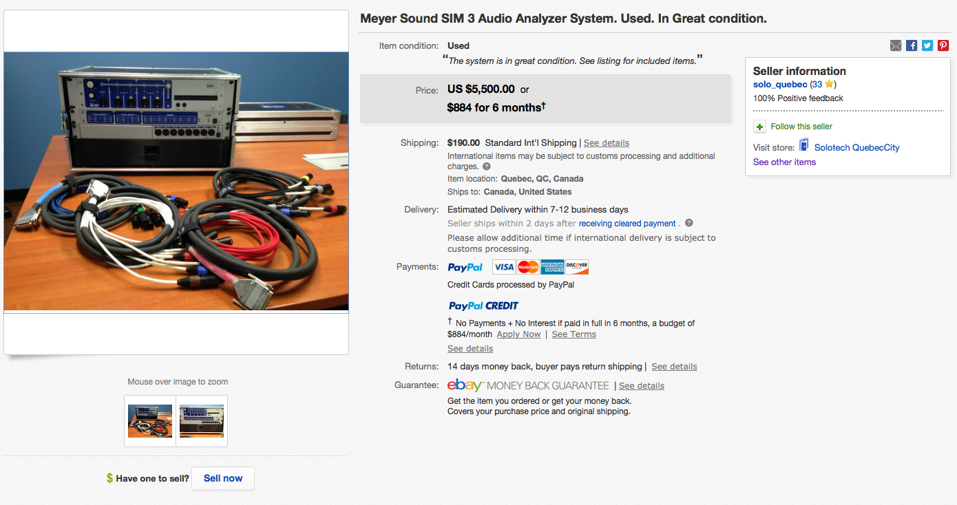 Solotech Meyer Sound SIM 3 rig 1
