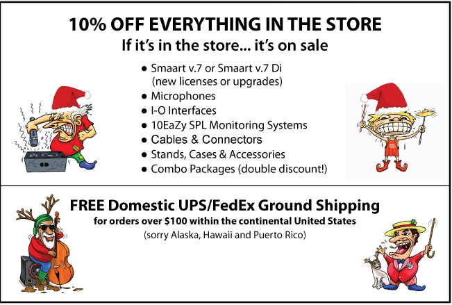 Rational Acoustic 2015 Holiday sales flier condensed