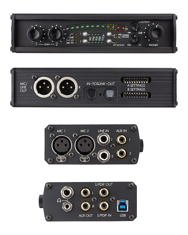 Sound Devices USBPre2 panels