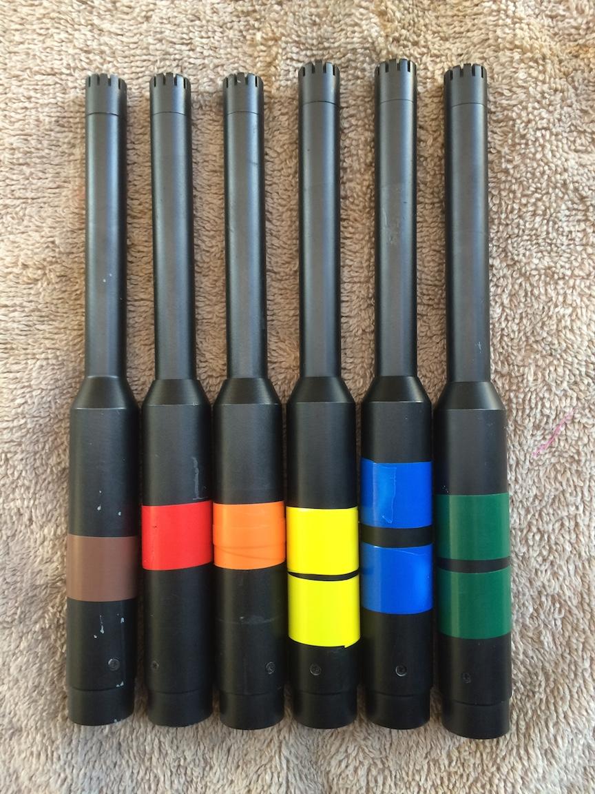 Audix mics color coded
