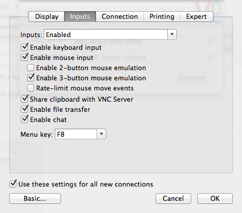 VNC Viewer Set-up 2