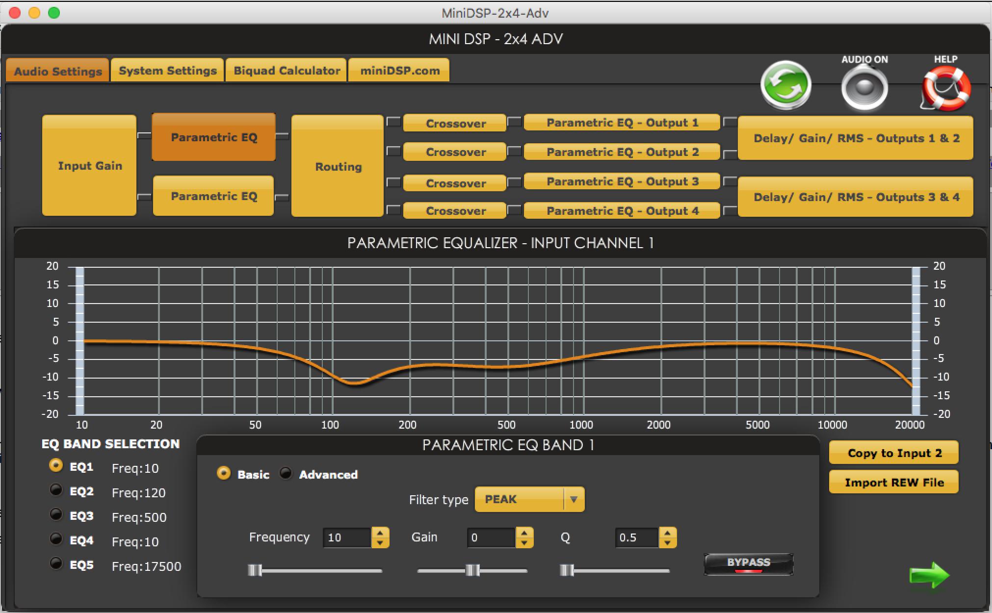 minidsp rehearsal sound system eq 1