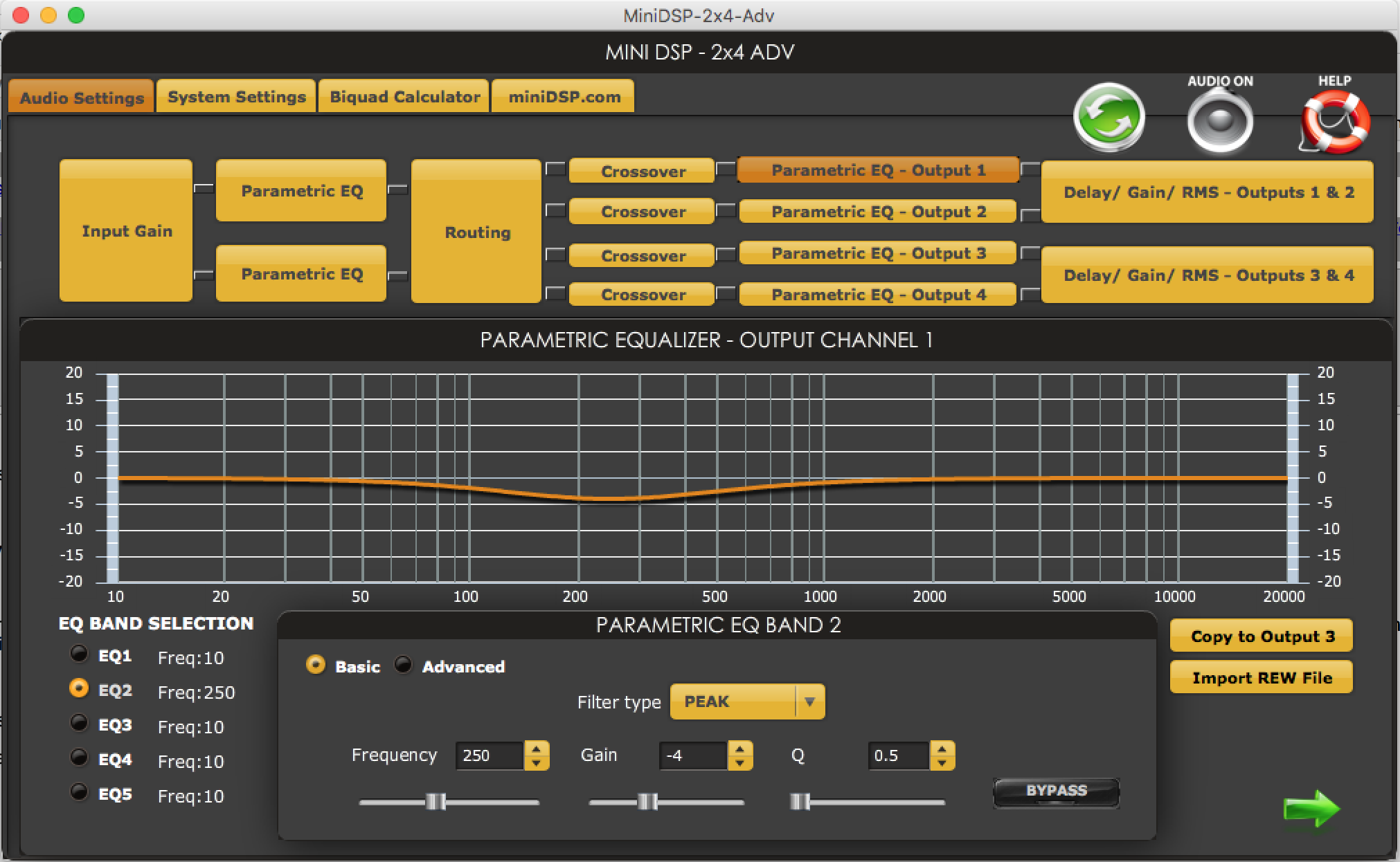 minidsp rehearsal sound system eq 2